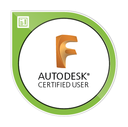 Autodesk Fusion 360 Certified User badge